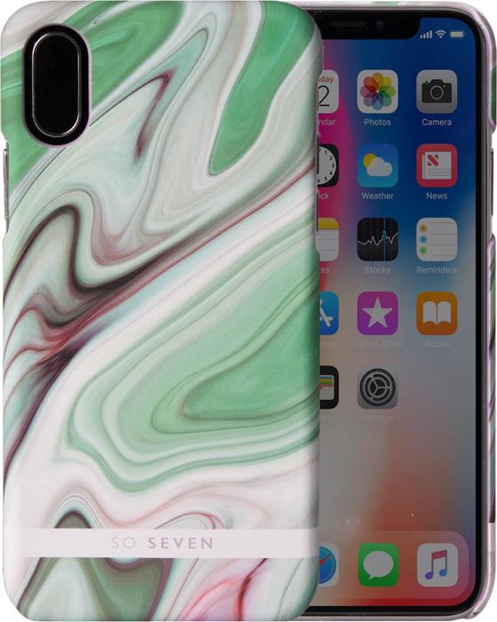 Фото - Чехол So Seven Carrare для Apple iPhone X, Green so seven dandy чехол для apple iphone x dark gray wood