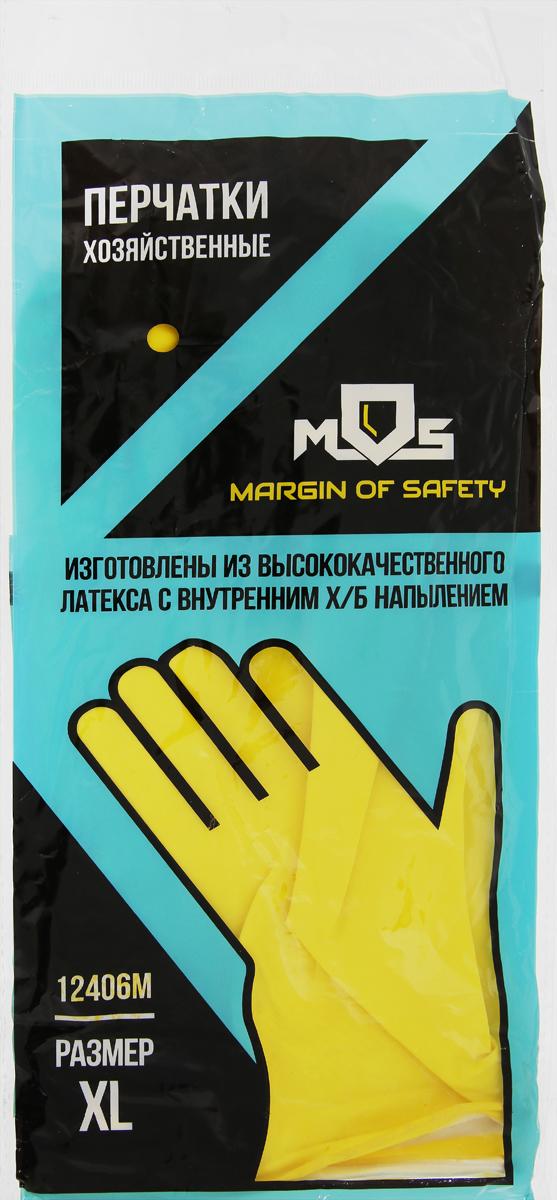 """Перчатки хозяйственные """"MOS"""", латексные. Размер XL"""