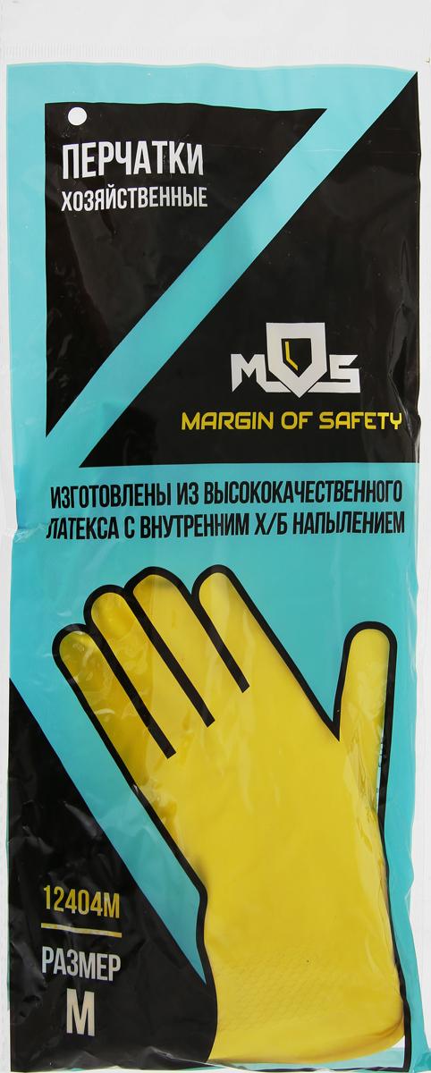 """Перчатки хозяйственные """"MOS"""", латексные. Размер M"""