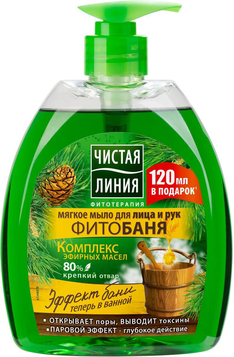 Чистая Линия Фитобаня жидкое мыло, 520 мл