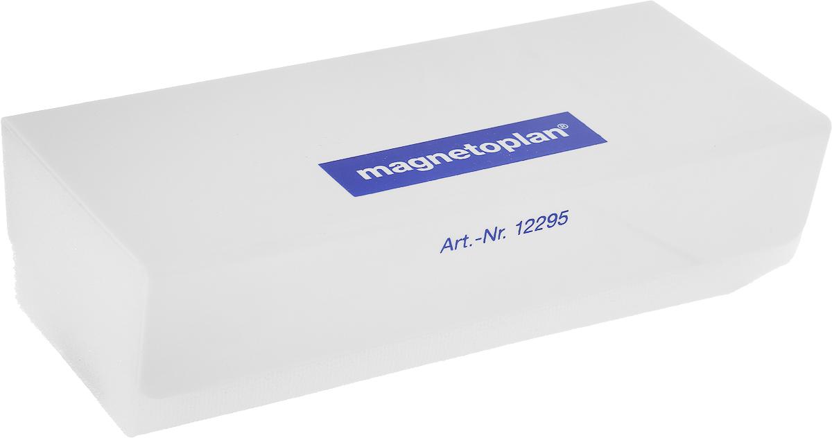 Стиратель магнитный  Magnetoplan  со сменными салфетками, цвет: серый