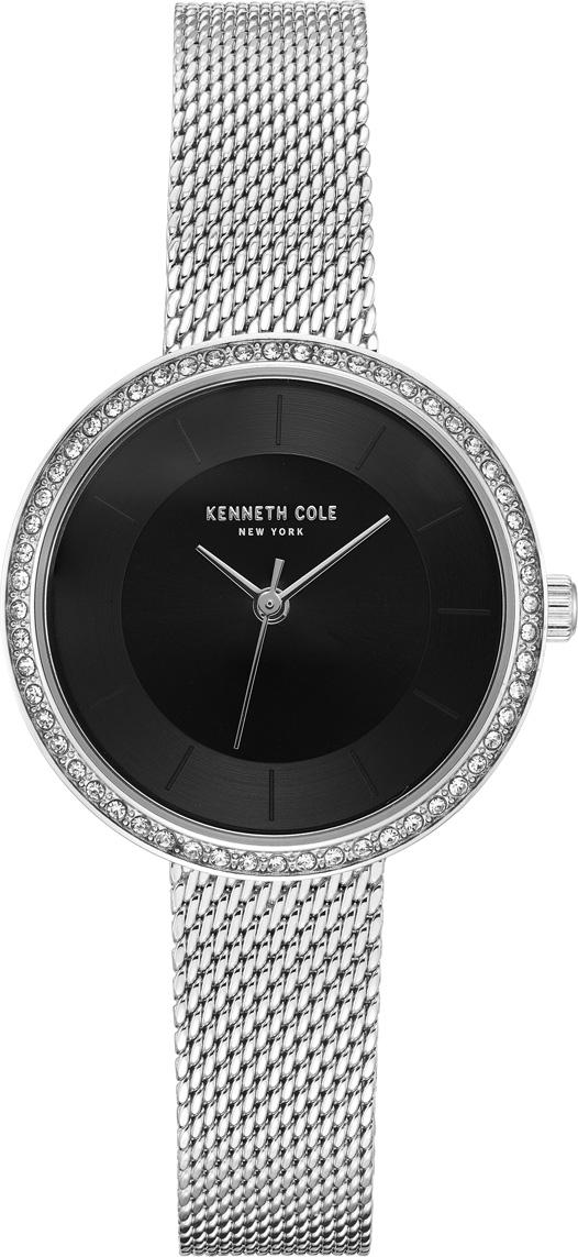 цена Часы наручные женские Kenneth Cole, цвет: серебристый. KC50198002 онлайн в 2017 году