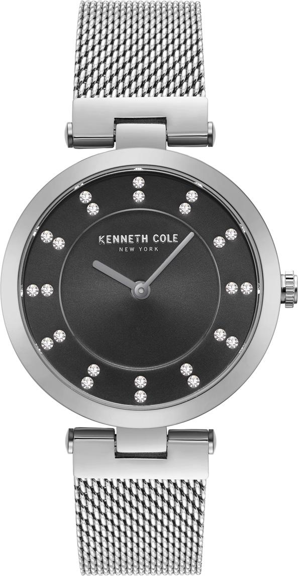цена Часы наручные женские Kenneth Cole, цвет: серебристый. KC50200002 онлайн в 2017 году