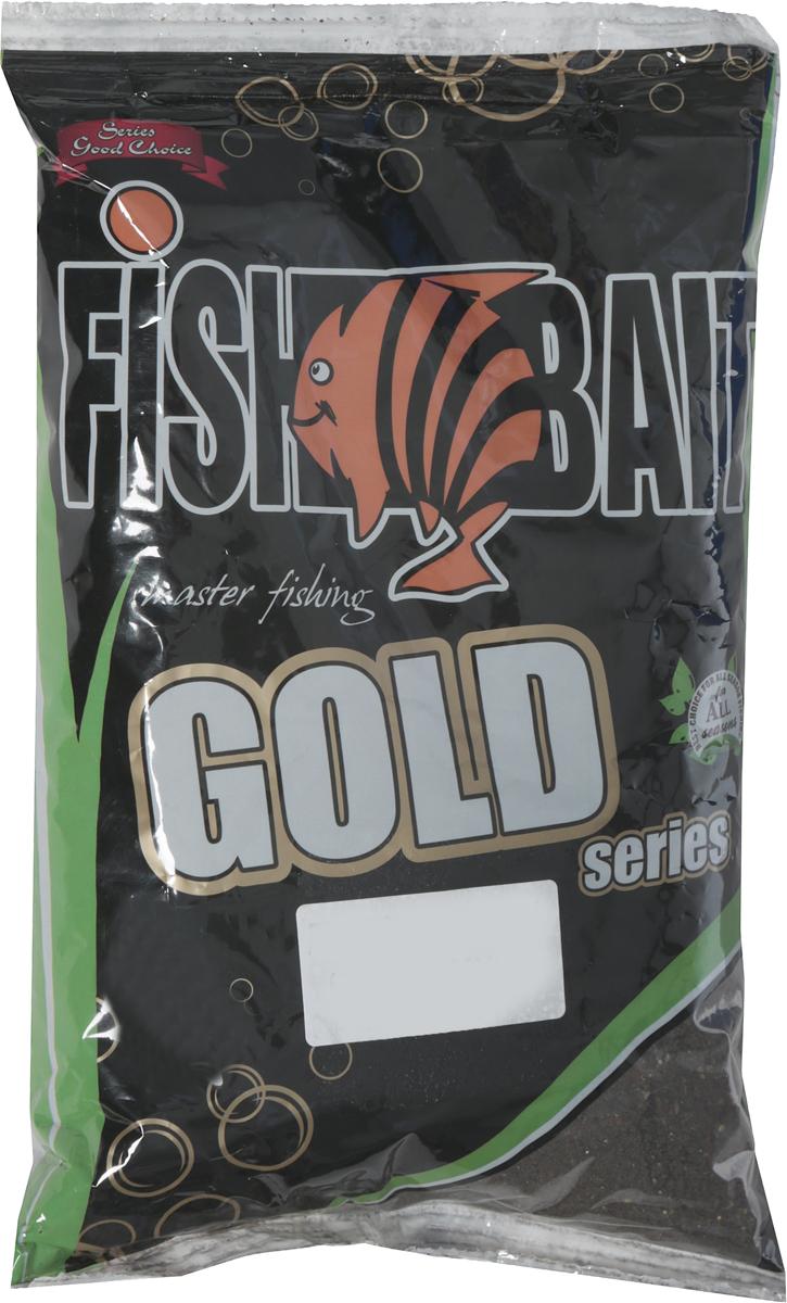 Прикормка для рыб FishBait Gold Плотва Темная, летняя, 1 кг