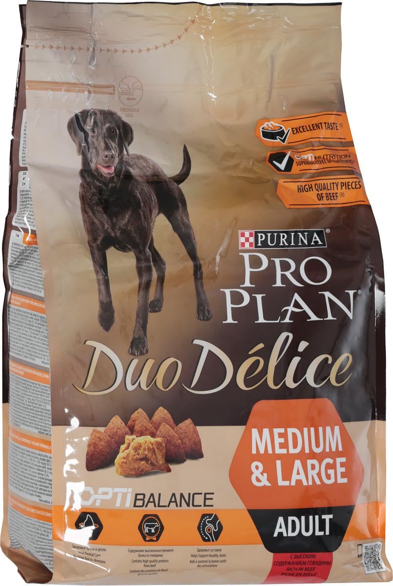 """Корм сухой для собак Pro Plan """"Duo Delice"""", с говядиной и рисом, 2,5 кг"""