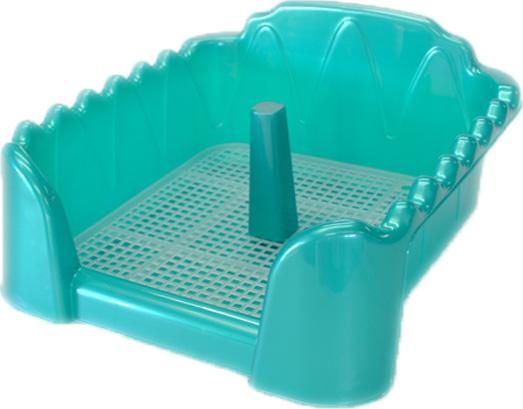 Туалет для собак HomePet, с сеткой и столбиком, цвет: бирюзовый перламутр, 40 х 40 см туалет для собак triol с сеткой 40 х 40 х 15 5 см