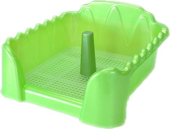Фото - Туалет для собак HomePet, с сеткой и столбиком, цвет: зеленый перламутр, 40 х 40 см trixie стойка с мисками trixie для собак 2х1 8 л