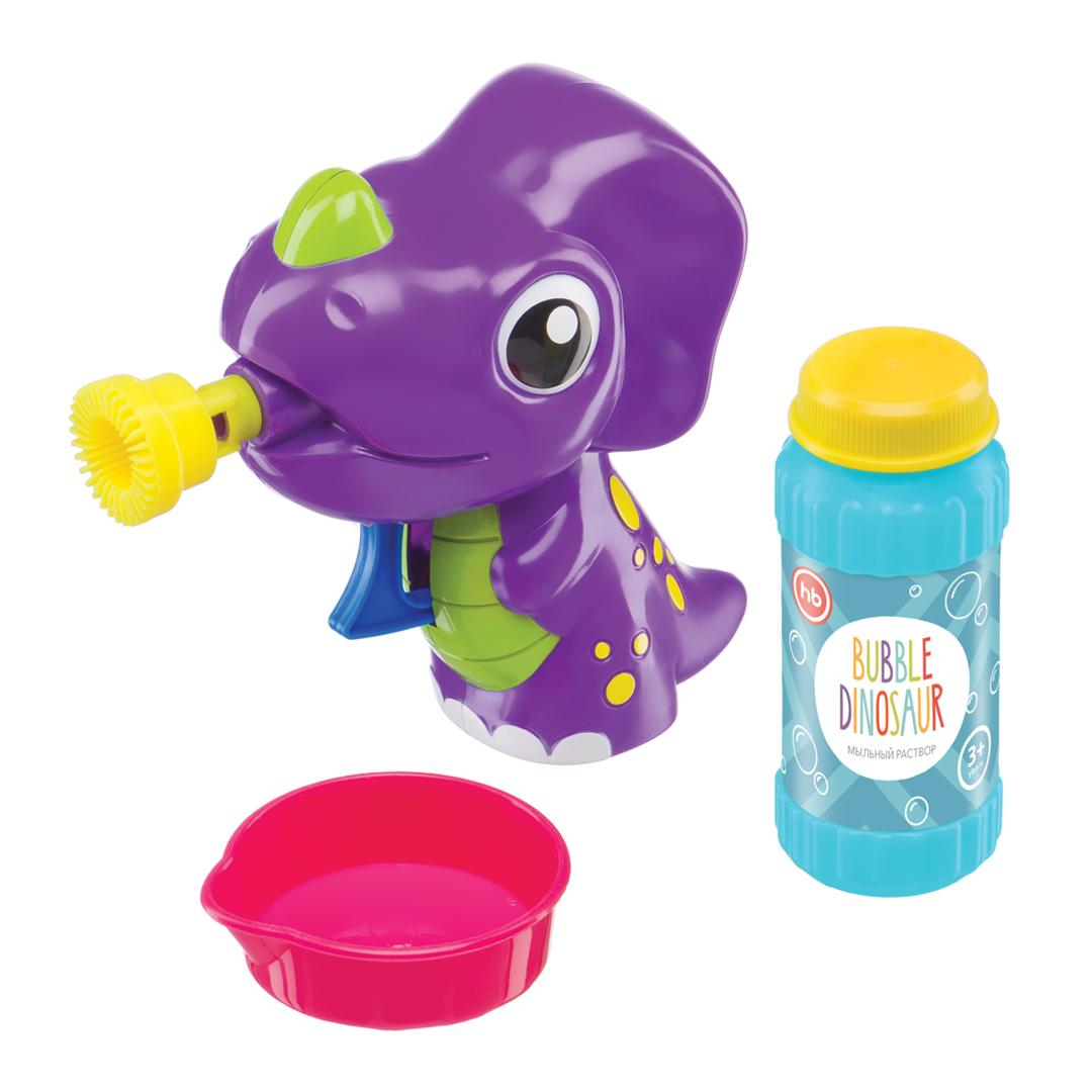 Happy Baby Набор для пускания мыльных пузырей Bubble Dinosaur330407Все дети обожают разноцветные мыльные пузыри, переливающиеся яркими красками. Игрушка BUBBLE DINOSAUR в виде симпатичного динозаврика приглашает Вас в страну смеха и веселья, ведь с её помощью можно создать множество мыльных пузырей. Динозаврик работает без батареек, поэтому играть с ним можно столько, сколько захочется. Подарите ребёнку радость от игры с BUBBLE DINOSAUR! В комплекте: игрушка для пускания мыльных пузырей с насадкой, ёмкость с мыльным раствором (60 мл.), ванночка для раствора. ОСОБЕННОСТИ • Пускает мыльные пузыри при нажатии на курок • Большое количество пузырей • Позитивный дизайн