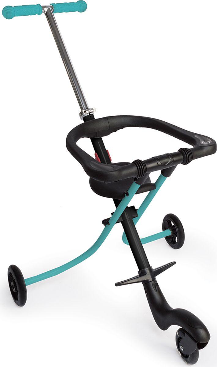 Happy Baby Каталка детская Racer цвет бирюзовый92000Каталка RACER – отличное решение для активной прогулки или похода в магазин с малышом. Трёхколёсная база обеспечивает маневренность, которая просто необходима в современном мегаполисе и, особенно, в закрытых помещениях. Благодаря удобной рукоятке с резиновыми накладками, управление каталкой становится невероятно простым и безопасным. Современный стиль каталки RACER идеально впишется в повседневный образ жизни, а малыш, сидя в ней, будет чувствовать себя настоящим мотогонщиком. Переднее светящееся колесо и спортивный дизайн только украсят этот образ. Каталка станет практичным приобретением, так как она складывается в два движения и после этого представляет собой очень компактную конструкцию, которую можно спрятать даже в самый узкий проём. Комфорт в использовании обеспечен регулировкой рукоятки, подножки, а также поднимающимся страховочным бортиком, уберегающим малыша от падения. Лёгкая и маневренная каталка RACER поможет родителям, а малышу подарит множество впечатлений.ОСОБЕННОСТИ Габариты в сложенном виде: 75х56х13 см Габариты в разложенном виде: 90х56х89 см Складывается быстро и компактно Светящееся переднее колесо Поднимающийся страховочный бортик Прорезиненные колёса Регулируемая высота подножки Переднее колесо поворачивается на 360° Состав Пластмасса, металл Инструкция по уходу Шасси: периодически очищайте пластмассовые детали влажной тряпкой, без использования растворителей и сходных веществ. Держите металлические части изделия сухими, чтобы предотвратить образование р...