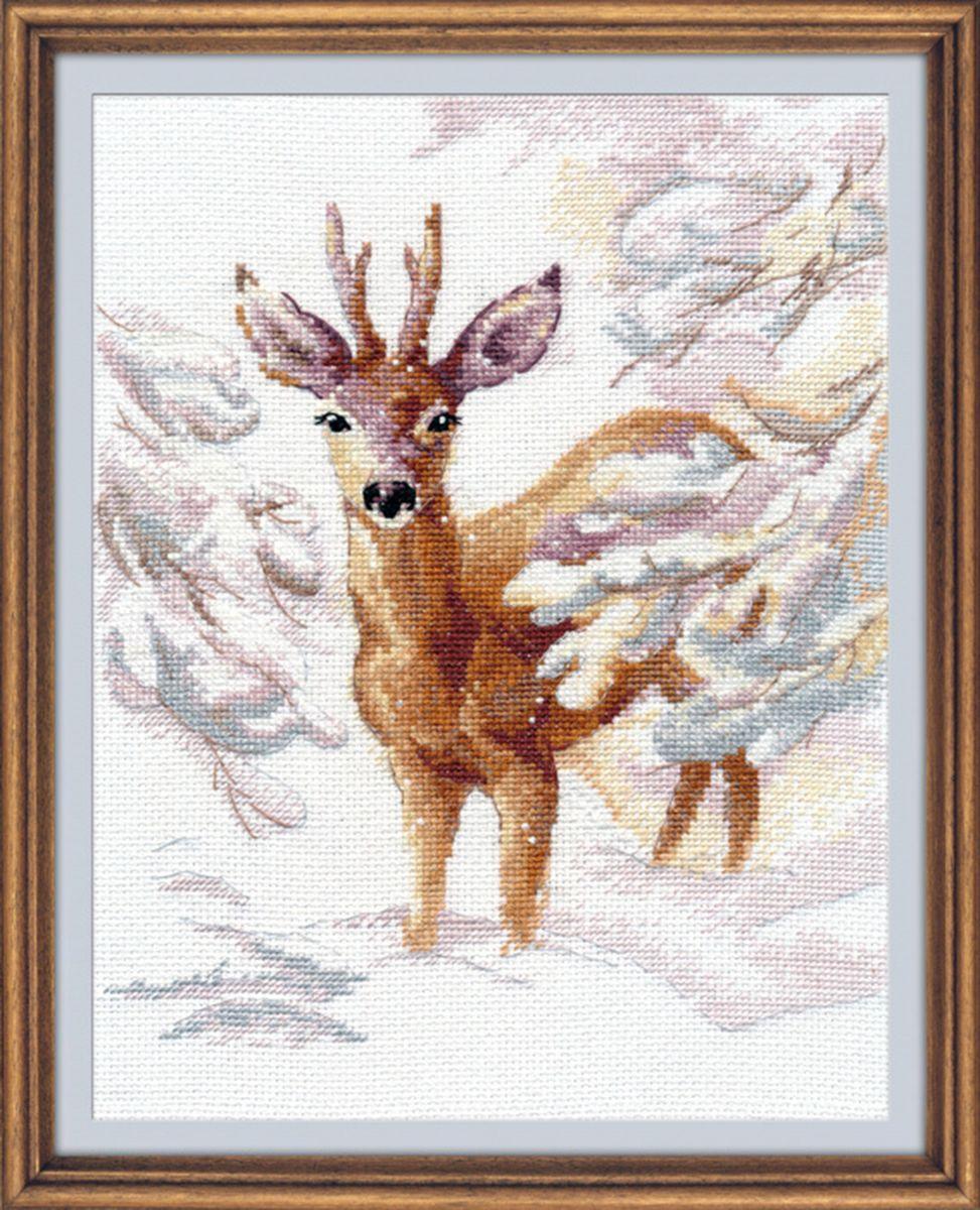 Набор для вышивания крестом Овен Косуля, 18 х 23 см набор для вышивания крестом овен наш цветочек 23 х 24 см