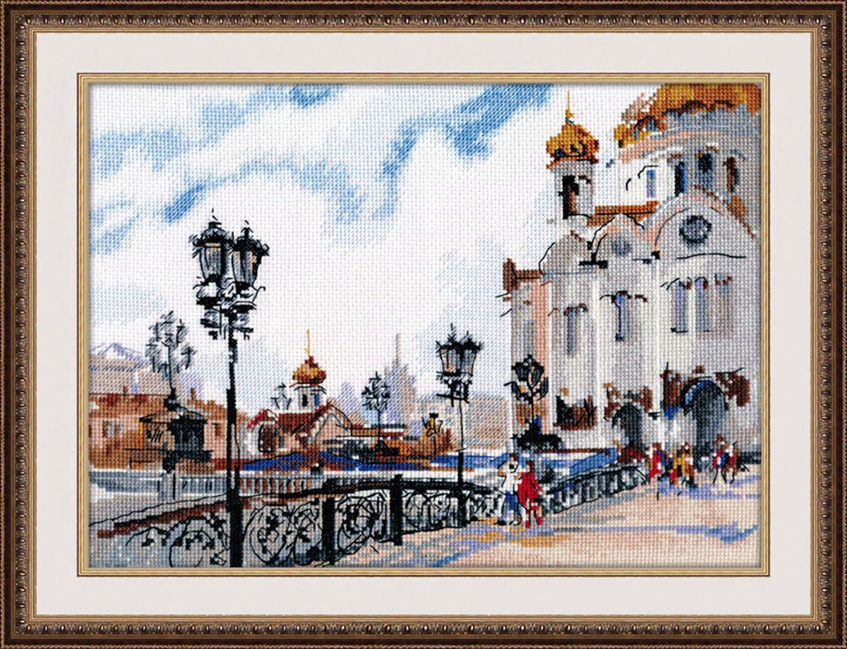 Набор для вышивания крестом Овен На Патриаршем мосту, 27 х 20 см набор для вышивания крестом овен совушка глаша 16 х 19 см