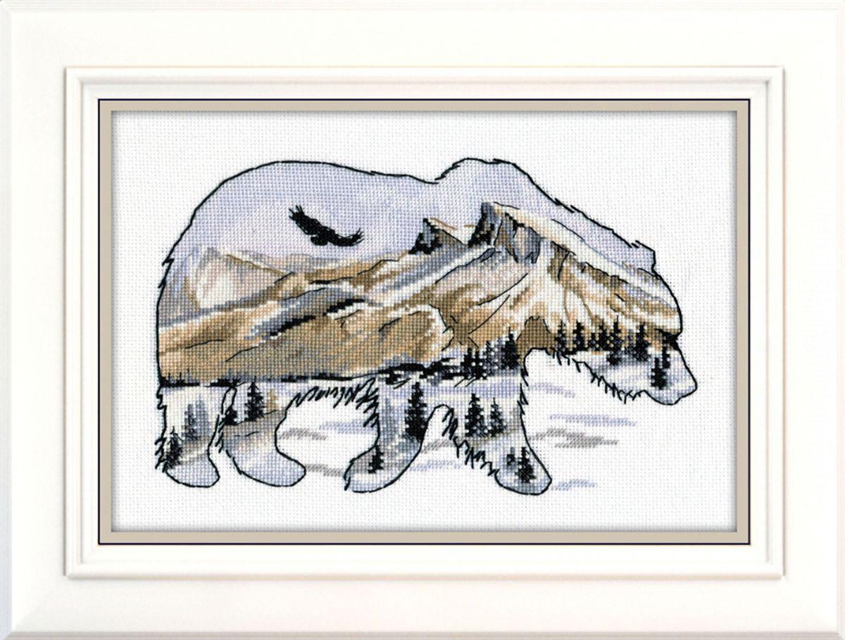 Набор для вышивания крестом Овен Мир животных. Медведь, 25 х 17 см набор для вышивания крестом овен совушка глаша 16 х 19 см