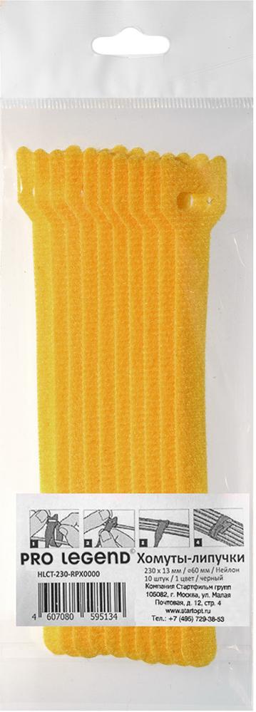 Pro Legend PL9606, Yellow стяжка для кабеля 150 мм х 12 мм 10 шт