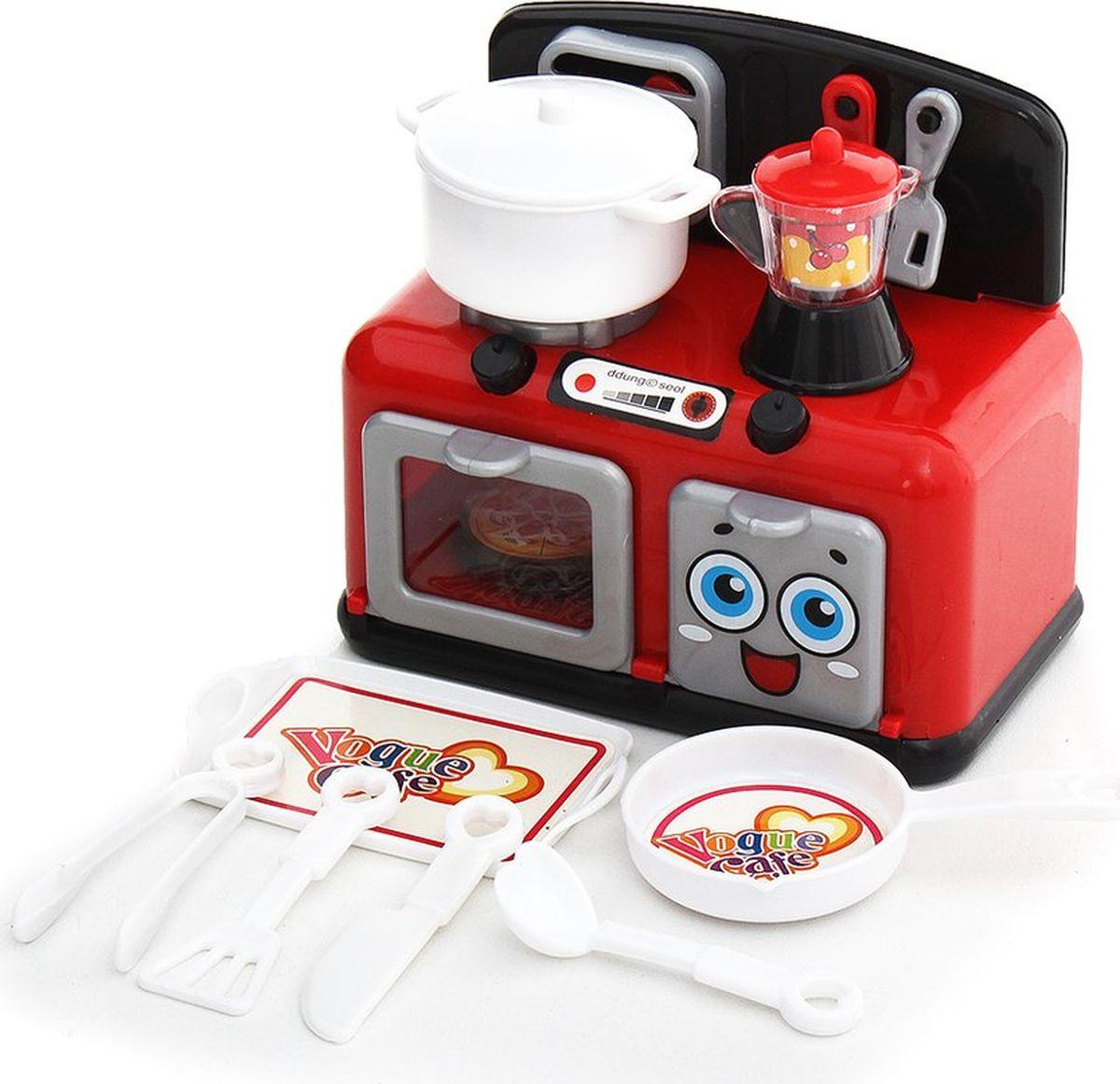 """Сюжетно-ролевые игрушки Fudaer Игровой набор """"Бытовая техника. Кухонная плита с аксессуарами"""" красный"""