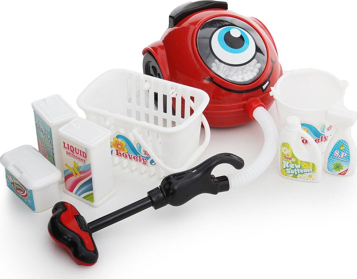 """Сюжетно-ролевые игрушки Fudaer Игровой набор """"Бытовая техника. Пылесос с аксессуарами"""" красный"""