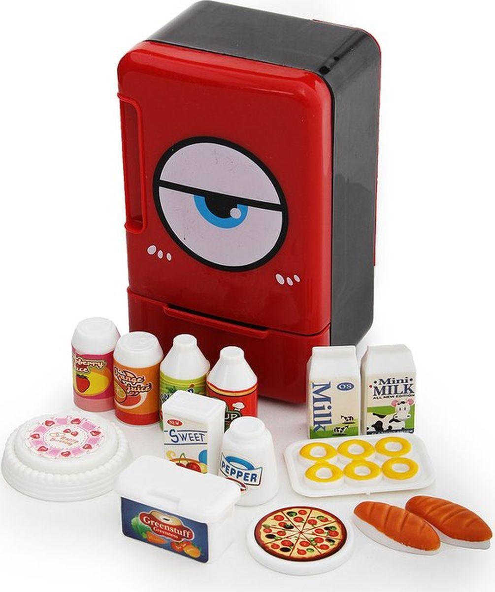 """Сюжетно-ролевые игрушки Fudaer Игровой набор """"Бытовая техника. Холодильник с аксессуарами"""" красный"""