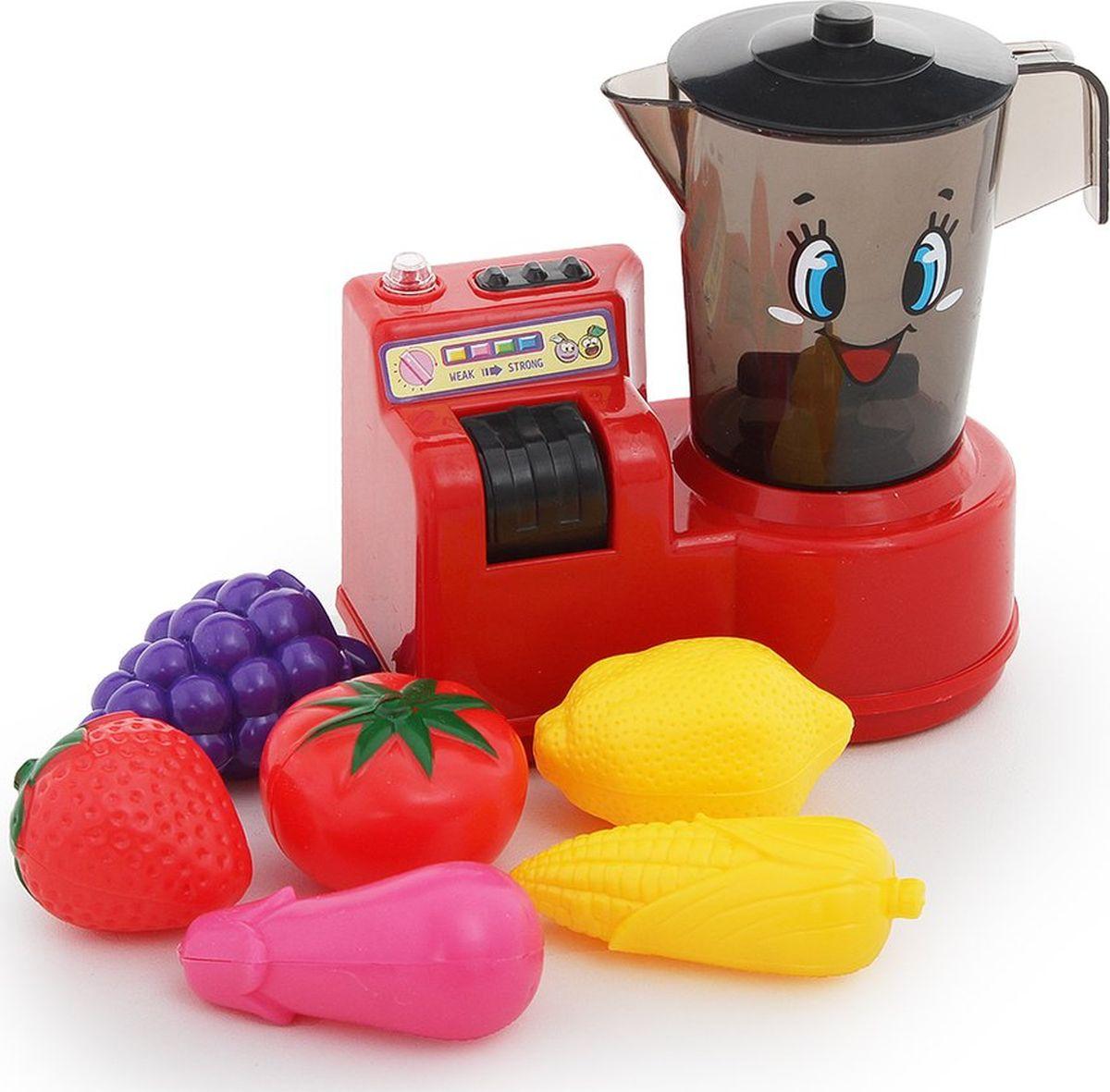 """Сюжетно-ролевые игрушки Fudaer Игровой набор """"Бытовая техника. Кухонный комбайн с аксессуарами"""" красный"""
