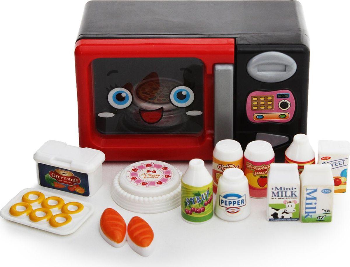 """Сюжетно-ролевые игрушки Fudaer Игровой набор """"Бытовая техника. Микроволновая печь с аксессуарами"""" красный"""