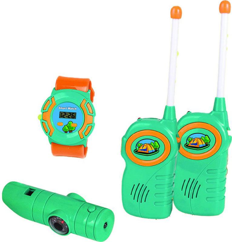 Игровой набор Fudaer Набор юного туриста, 3 предмета зеленый часы для туриста
