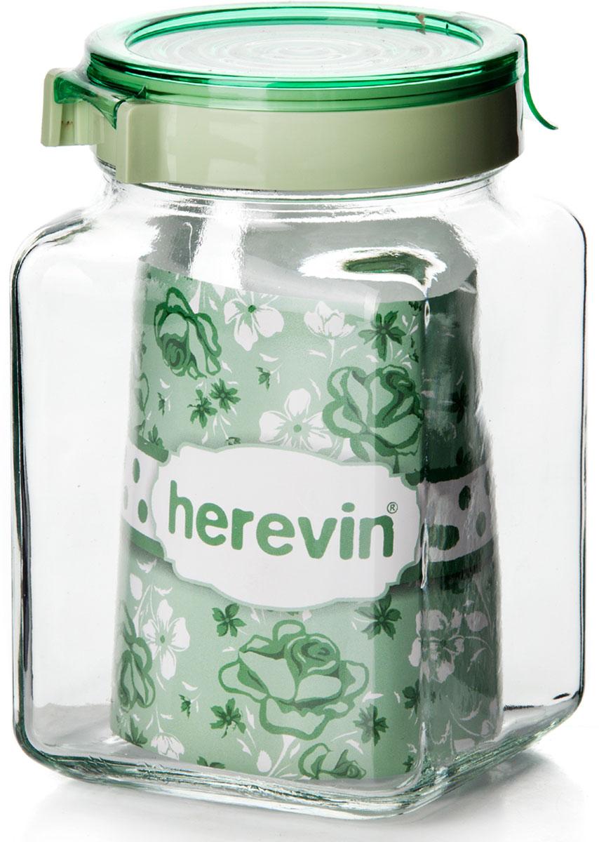 Банка для сыпучих продуктов Herevin, 143015-500, с крышкой, 1,5 л, цвет в ассортименте банка для сыпучих продуктов herevin 143102 000 с крышкой 1 7 л цвет в ассортименте