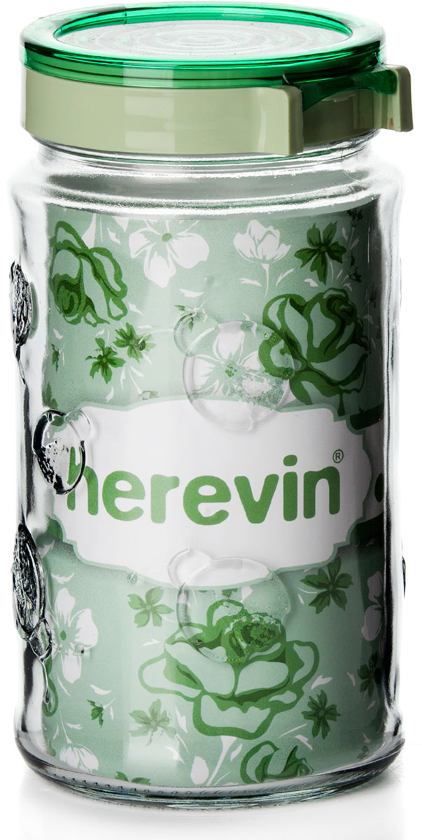 Банка для сыпучих продуктов Herevin, 143102-500, с крышкой, 1,7 л, цвет в ассортименте банка для сыпучих продуктов herevin 143102 000 с крышкой 1 7 л цвет в ассортименте