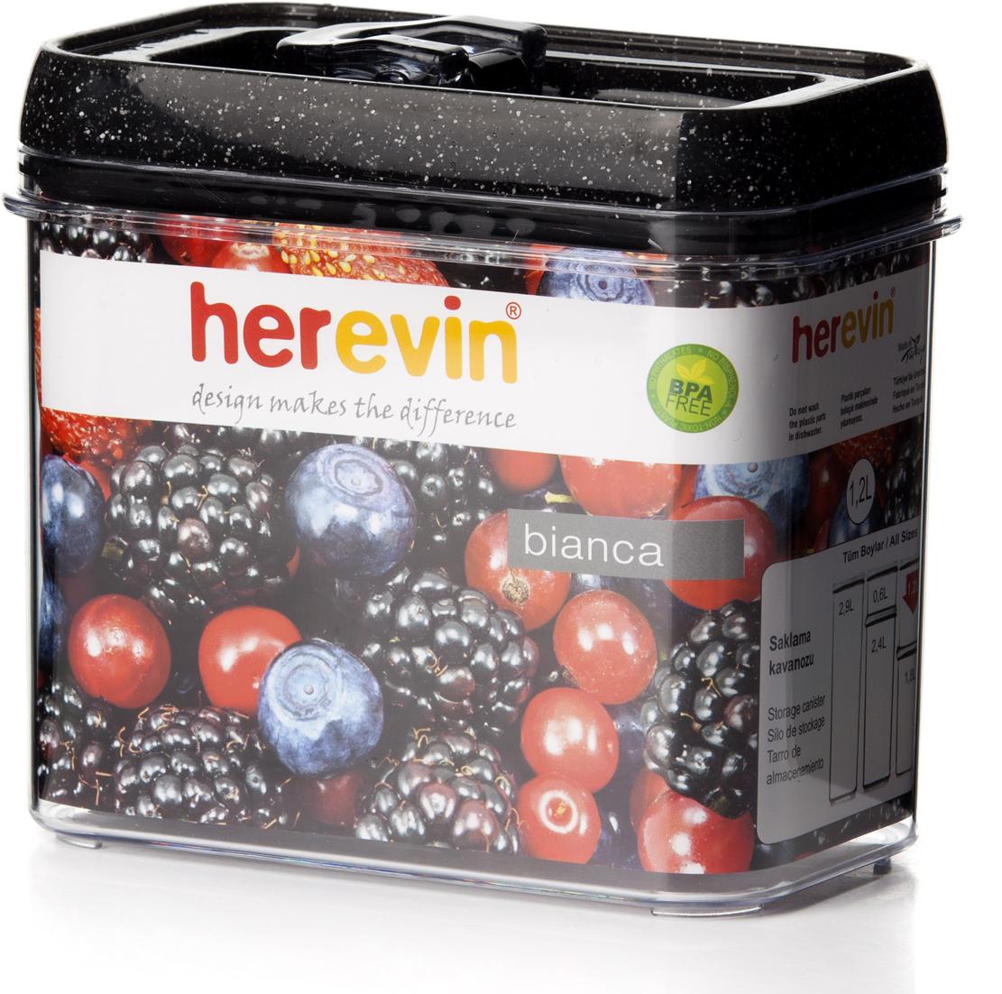 Контейнер для продуктов Herevin, с вакуумной крышкой, 1,2 л