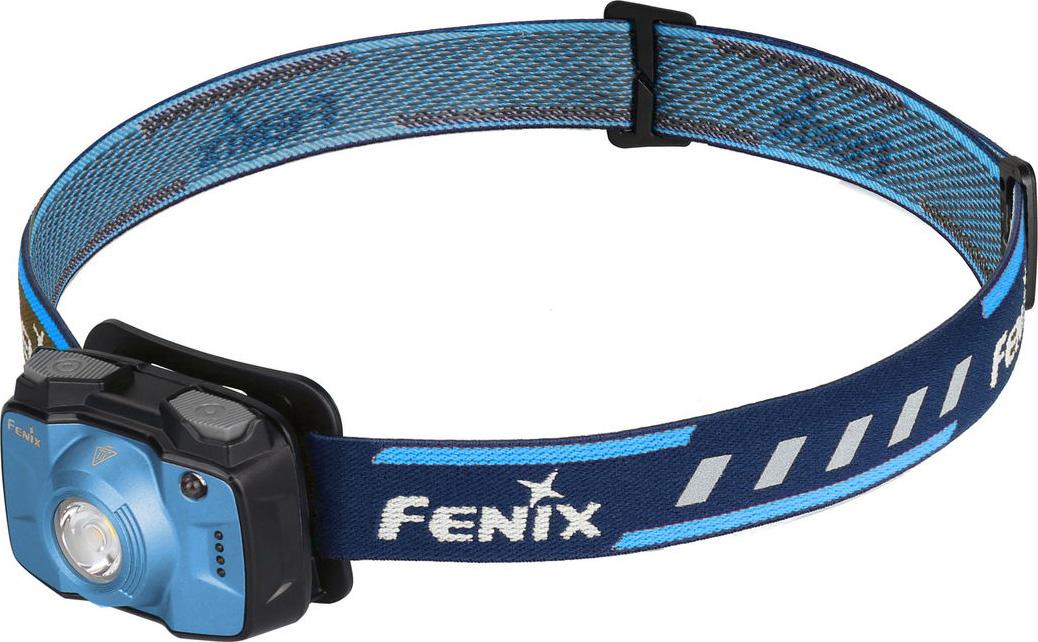 Фонарь налобный Fenix HL32R, цвет: голубой