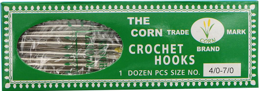 Крючок вязальный двухсторонний Corn