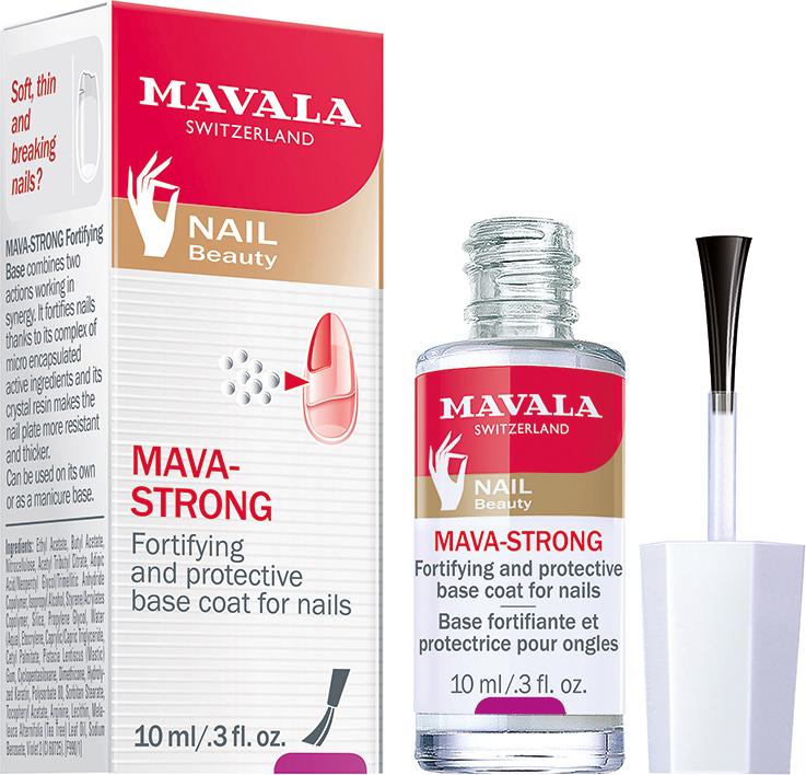 Mavala Укрепляющая и защитная основа для ногтей Мава-Стронг, 10 мл mavala мава стронг укрепляющая и защитная основа для ногтей мава стронг укрепляющая и защитная основа для ногтей