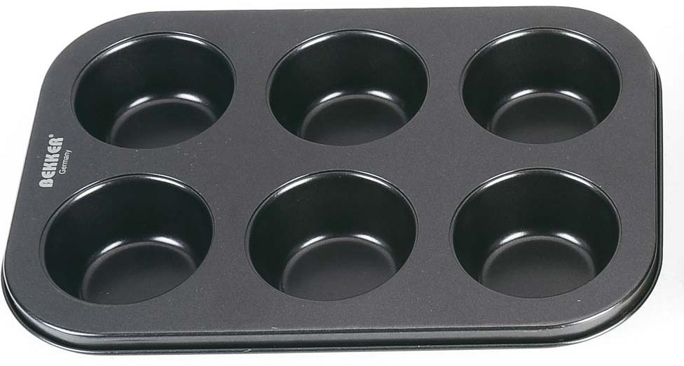 """Форма для выпечки """"Bekker"""", 6 отделений по 100 мл, 27 х 19 х 3,5 см. BK-3906"""