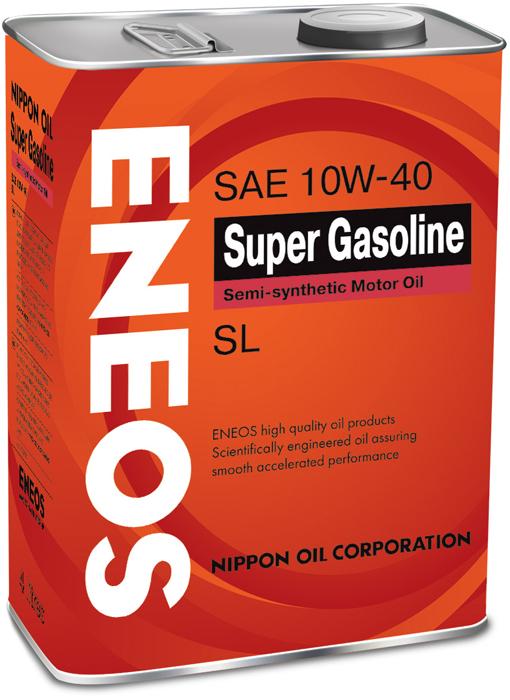 """Масло моторное ENEOS """"SL"""", полусинтетическое, 10W-40, 4 л"""