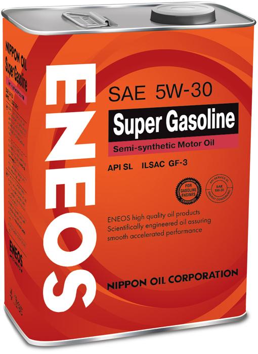 """Масло моторное ENEOS """"SL"""", полусинтетическое, 5W-30, 4 л"""