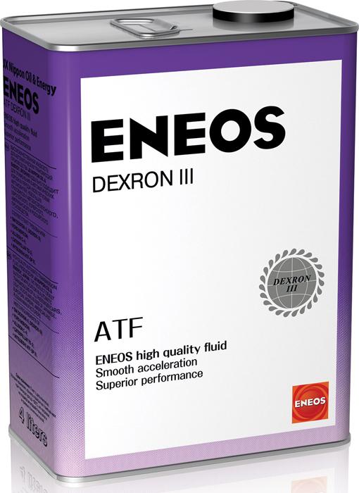 """Масло трансмиссионное ENEOS """"ATF Dexron-III"""", минеральное, 4 л"""