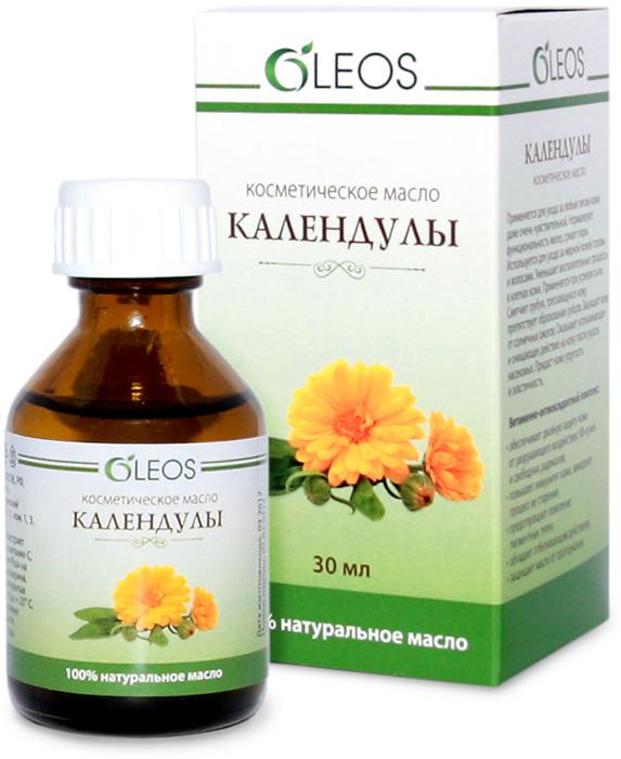 Косметическое масло Календулы Oleos, 30 мл масло природный антисептик ачд с пихтой косметическое oleos 30 мл