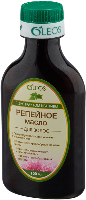 Репейное масло с экстрактом крапивы Oleos, 100 мл Oleos