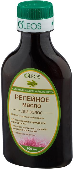 Репейное масло с эфирным маслом чайного дерева Oleos, 100 мл