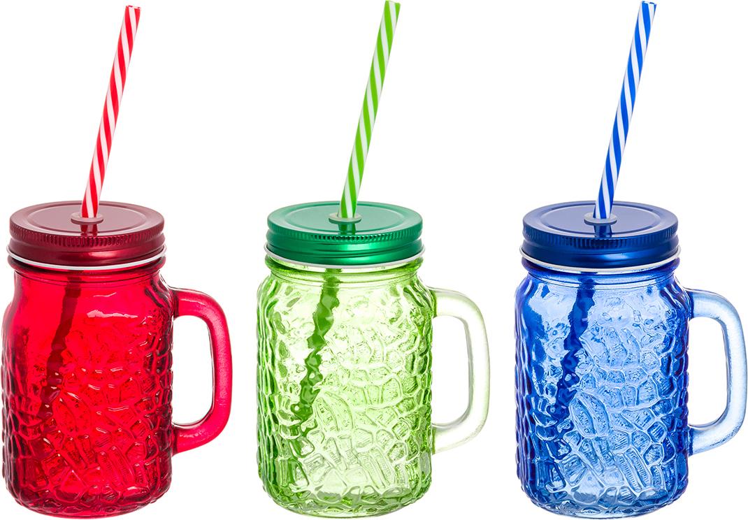 Набор цветных кружек Elan Gallery Мозаика, для глинтвейна, коктейля. 300079 набор цветных кружек elan gallery сова для глинтвейна коктейля 300105