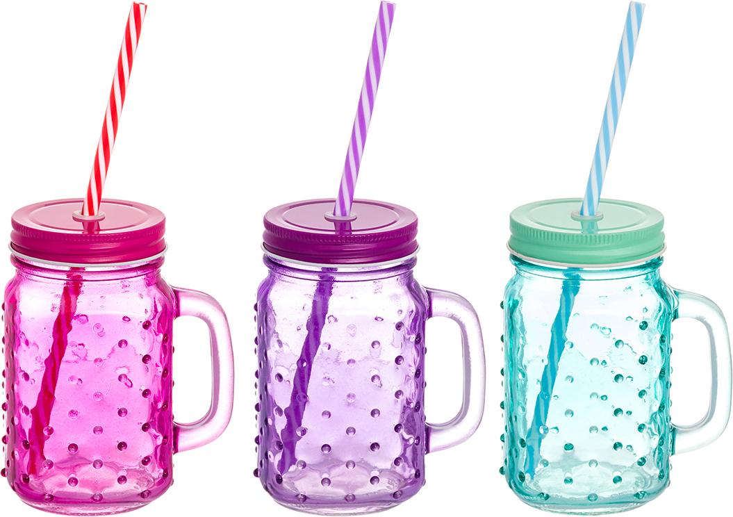 Набор цветных кружек Elan Gallery Пузыри, для глинтвейна, коктейля. 300100 набор цветных кружек elan gallery сова для глинтвейна коктейля 300105