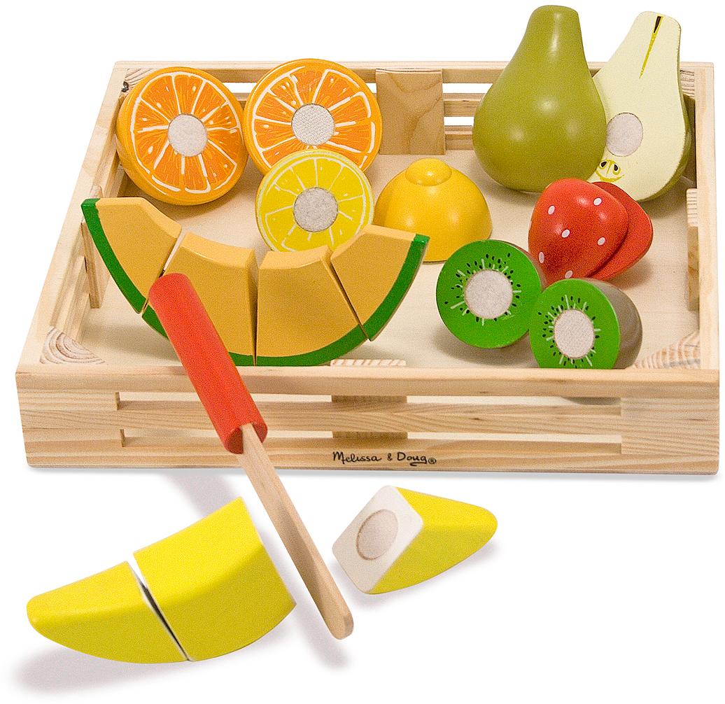 Melissa & Doug Набор порезанных фруктов Готовь и играй аппарат для напитков готовь и играй