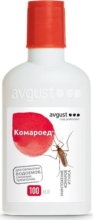 Флакон от комаров и их личинок Avgust Комароед, 100 мл