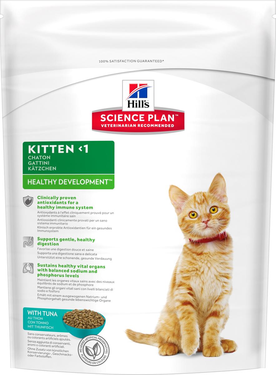 Корм сухой Hill's Science Plan Healthy Development для котят до 12 месяцев для гармоничного развития, с тунцом, 400 г корм сухой для котят hill s healthy development с тунцом 400 г