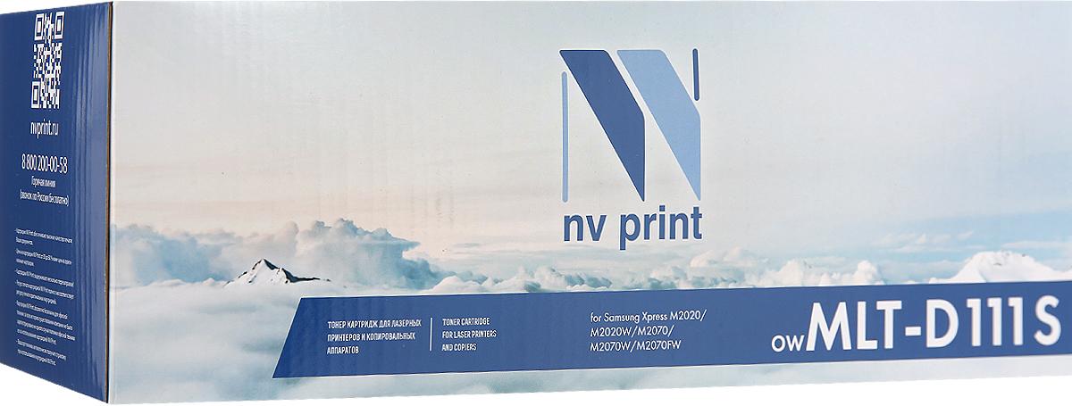 Картридж NV Print MLT-D111S, черный, для лазерного принтера
