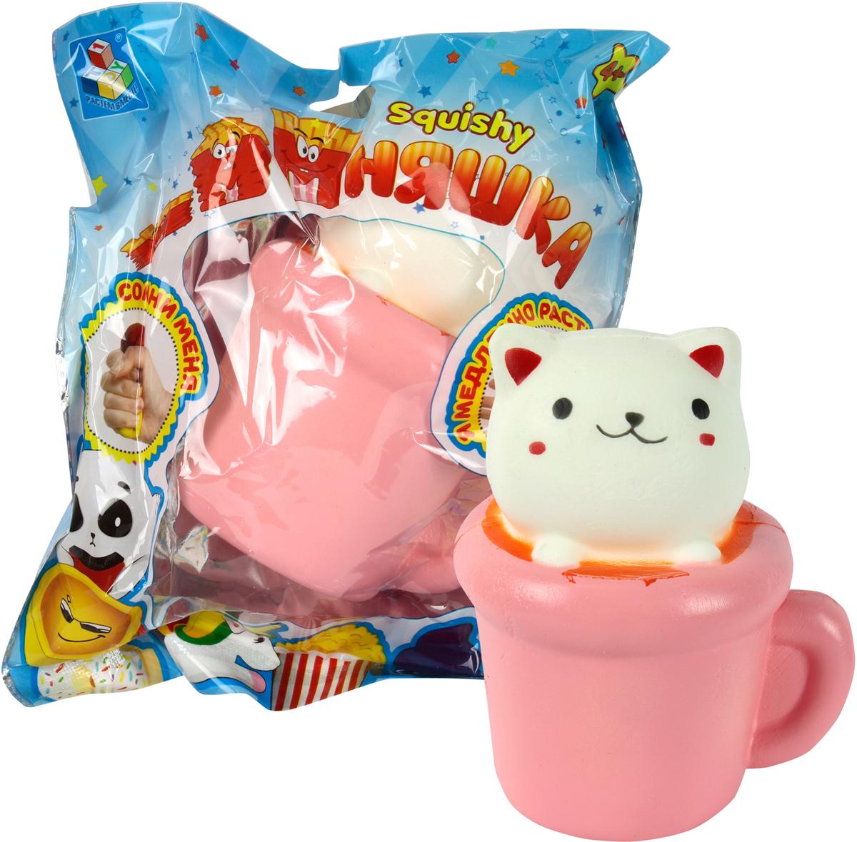 1TOY Игрушка-антистресс Мммняшка Squishy Кошка в чашке 1toy игрушка антистресс мммняшка squishy кошка в чашке