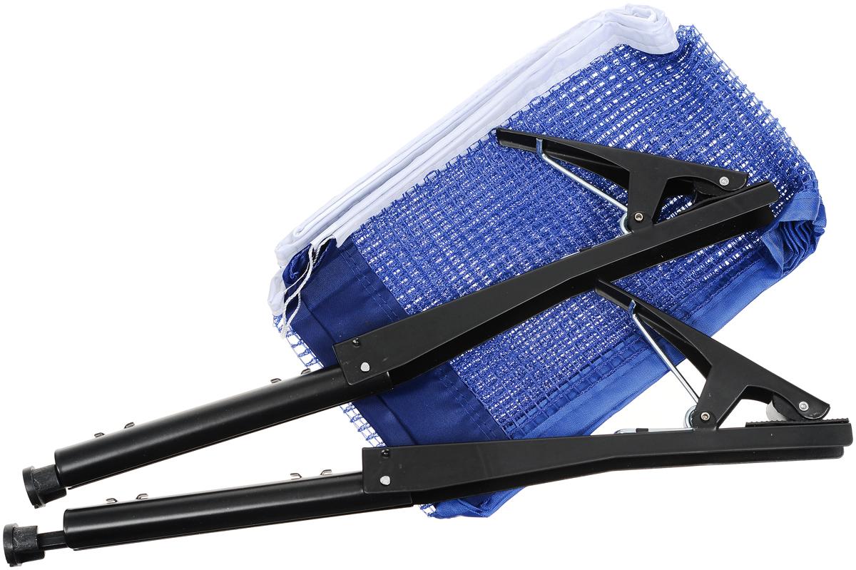 Сетка для настольного тенниса Start Up, с креплениями, цвет: синий, белый, черный, длина 185 см