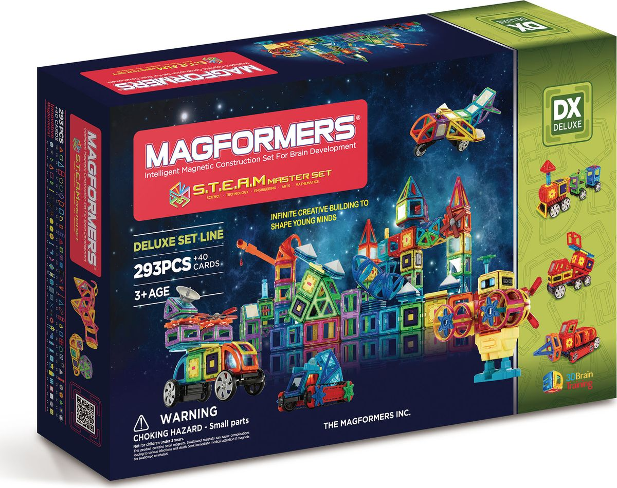 Magformers Магнитный конструктор STEAM Master Set