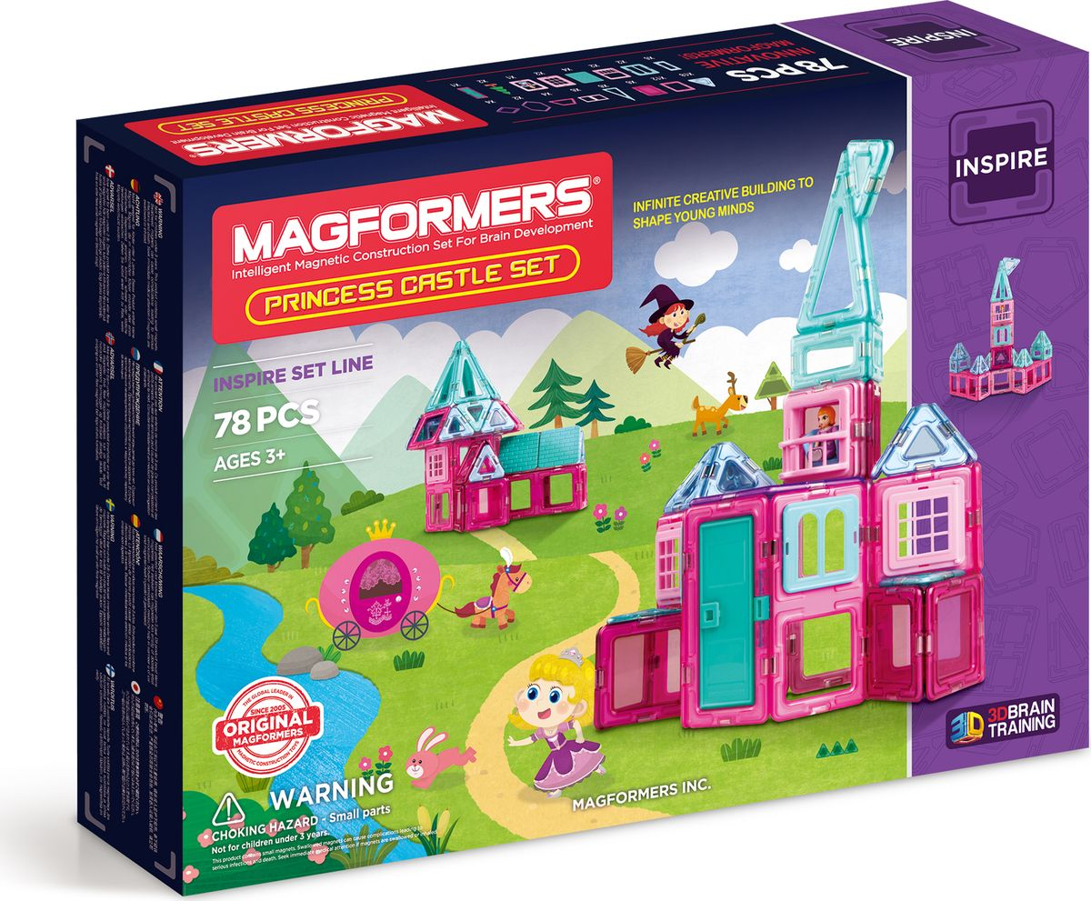 Magformers Магнитный конструктор Princess Castle Set