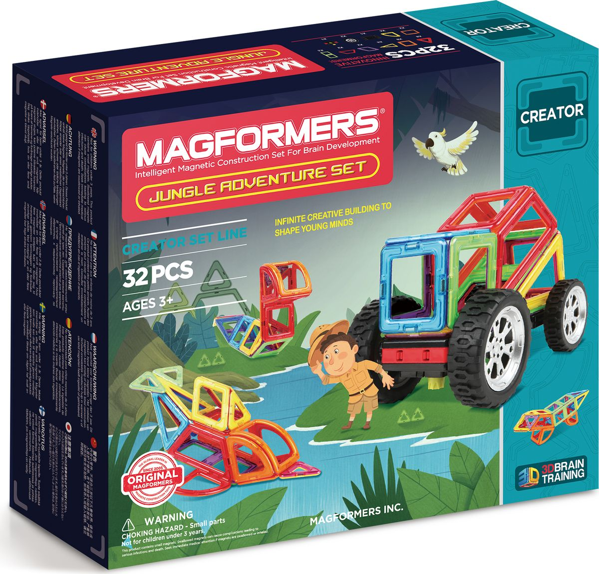 Magformers Магнитный конструктор Jungle Adventure Set цена