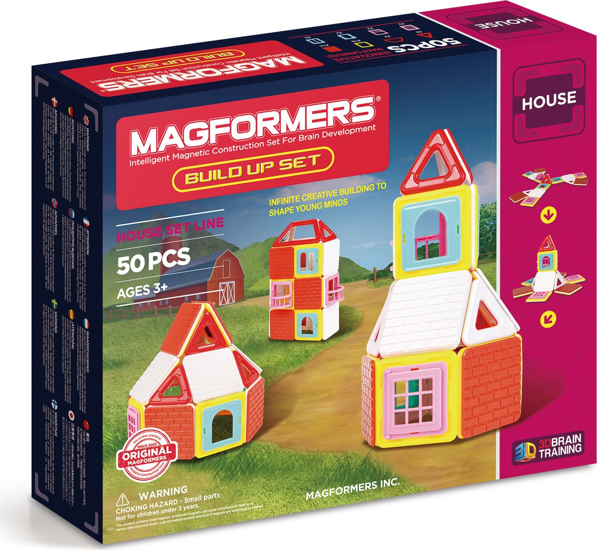 Magformers Магнитный конструктор Build Up Set magformers r c cruiser set 707003 63091