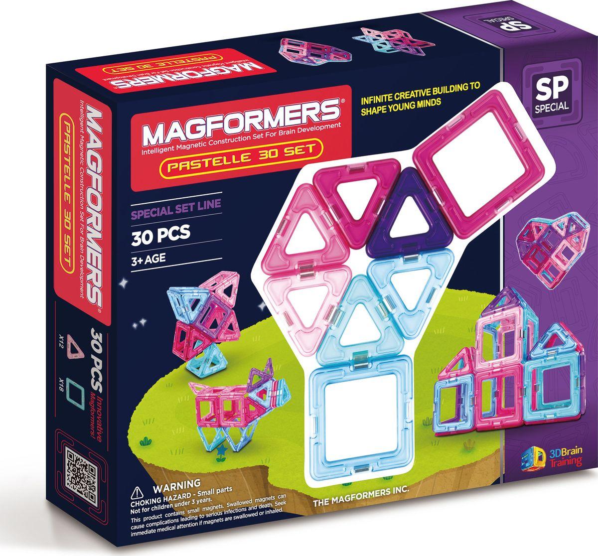 Magformers Магнитный конструктор Pastelle 30