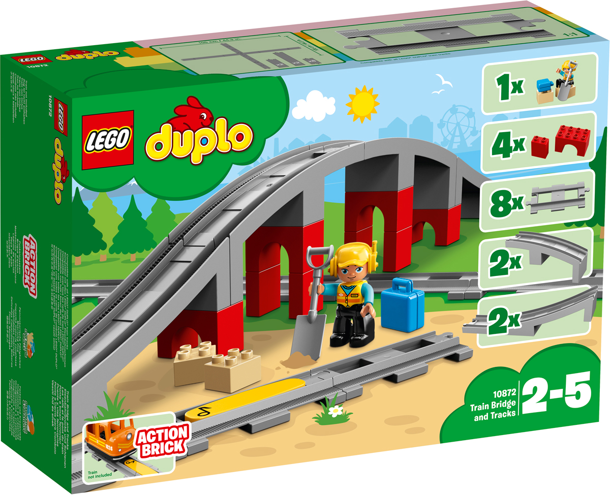 LEGO DUPLO Town 10872 Железнодорожный мост Конструктор